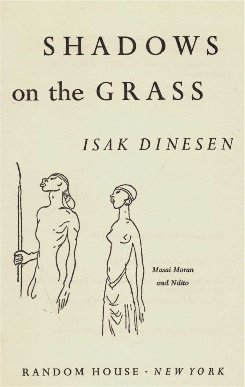 Shadows on the grass by karen blixen from project gutenberg canada title page fandeluxe Choice Image