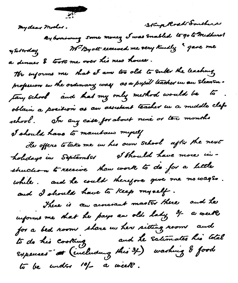 [133] Handwritten Note